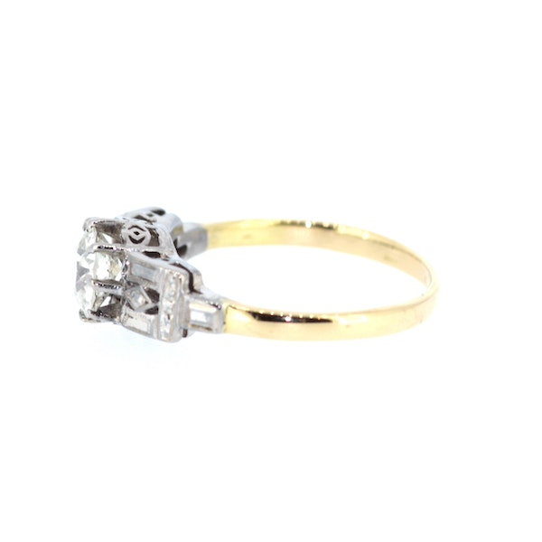 1.3ct Old Cut Solitaire Ring. S.Greenstein - image 2