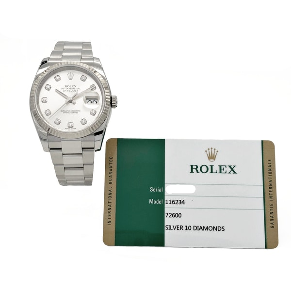 ROLEX DATEJUST 116234 DIAMOND DIAL - image 6