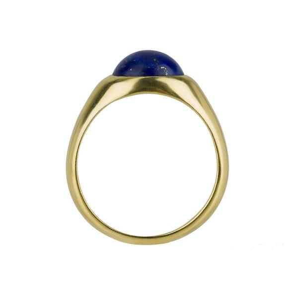 Kutchinsky: Cabochon Lapis Lazuli Ring - image 3