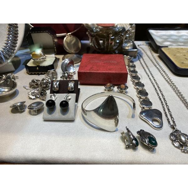 Date: circa 2000, Georg Jensen Silver & Onyx Earrings, SHAPIRO & Co since1979 - image 7