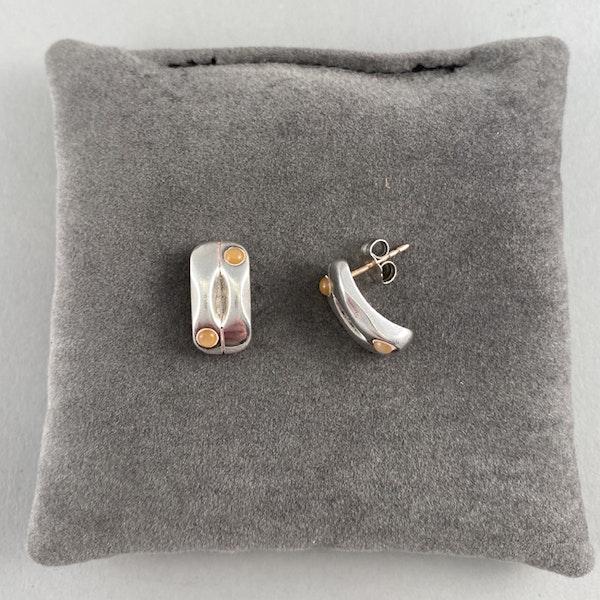 Date: 2005-2007, Georg Jensen Silver & Orange Moonstone Earrings, SHAPIRO & Co since1979 - image 2
