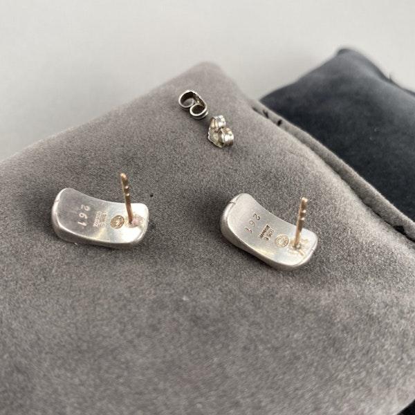 Date: 2005-2007, Georg Jensen Silver & Orange Moonstone Earrings, SHAPIRO & Co since1979 - image 5