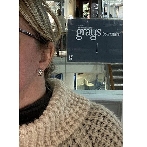 Date: 2005-2007, Georg Jensen Silver & Orange Moonstone Earrings, SHAPIRO & Co since1979 - image 3