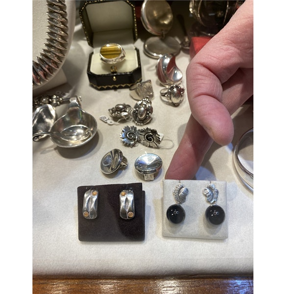 Date: 2005-2007, Georg Jensen Silver & Orange Moonstone Earrings, SHAPIRO & Co since1979 - image 8
