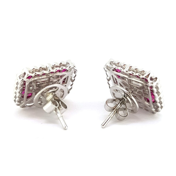 Ruby and Diamond Earrings - image 2