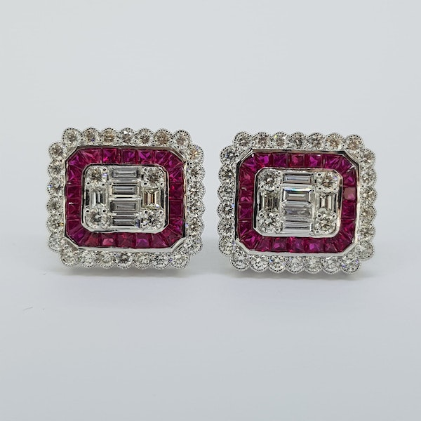 Ruby and Diamond Earrings - image 3