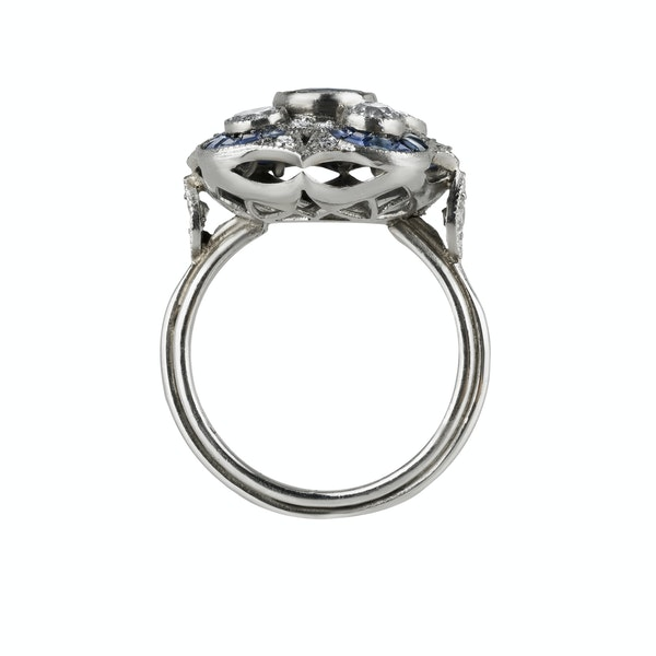 Art Deco Sapphire and Diamond Ring - image 2