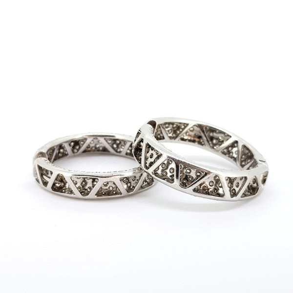Diamond Hoop earrings - image 2