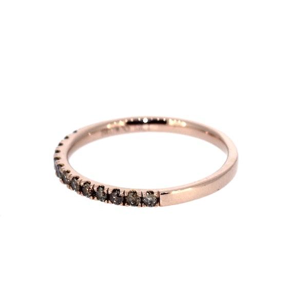 Cognac Diamond Half Eternity Ring. S.Greenstein - image 2