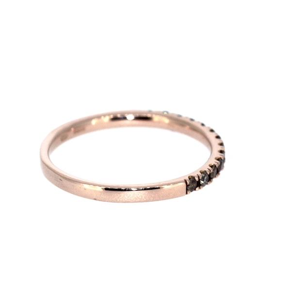 Cognac Diamond Half Eternity Ring. S.Greenstein - image 4