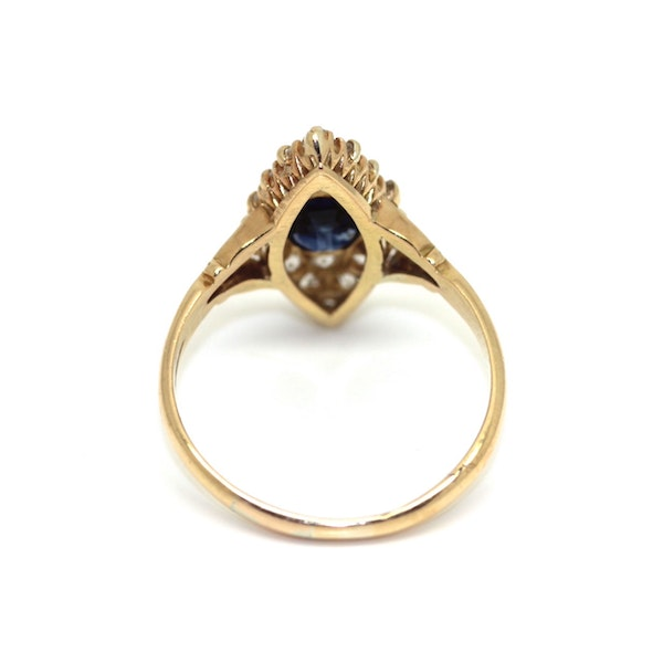 Sapphire And Diamond Marquis Ring. S.Greenstein - image 3