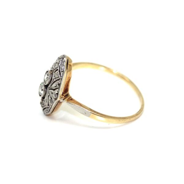 Art Deco 1930's Diamond Up-Finger Ring. S.Greenstein - image 4