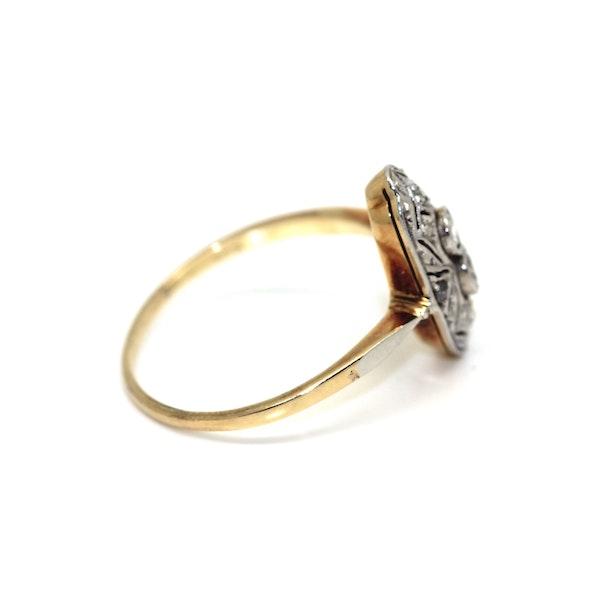 Art Deco 1930's Diamond Up-Finger Ring. S.Greenstein - image 2