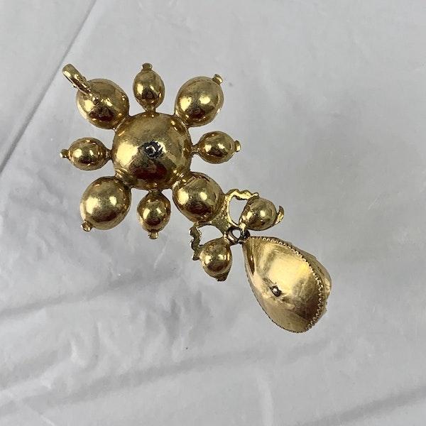 Ca 1680 Spanish emerald pendant - image 2