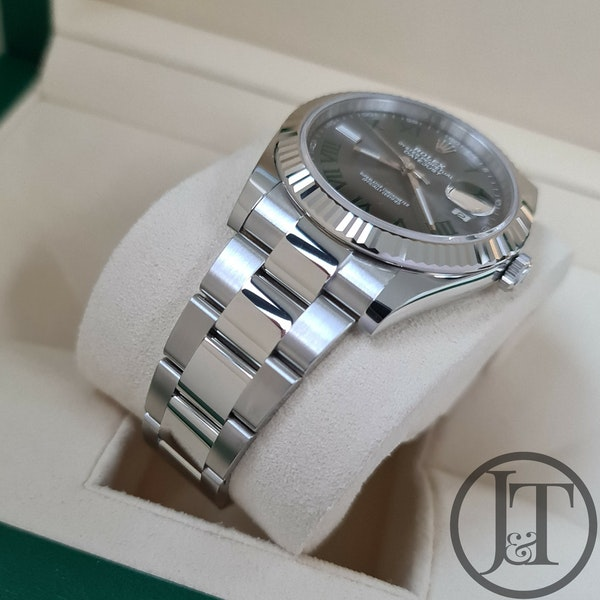 Rolex Datejust 41 126334 Slate Roman Wimbledon Dial Oyster - image 4