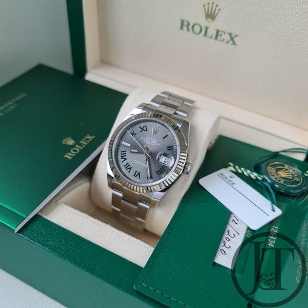 Rolex Datejust 41 126334 Slate Roman Wimbledon Dial Oyster - image 6