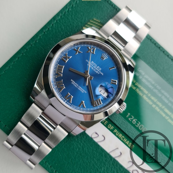 Rolex Datejust 41 126300 Azzurro Blue Dial - image 6