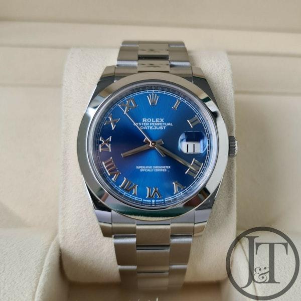 Rolex Datejust 41 126300 Azzurro Blue Dial - image 1