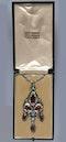 Omar Ramsden. An Arts & Crafts / Art Nouveau silver carnelian set pendant. - image 4
