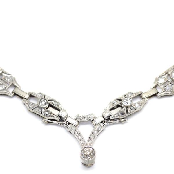 Art Deco Diamond Necklace. S.Greenstein - image 3