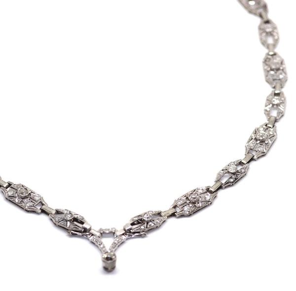 Art Deco Diamond Necklace. S.Greenstein - image 2