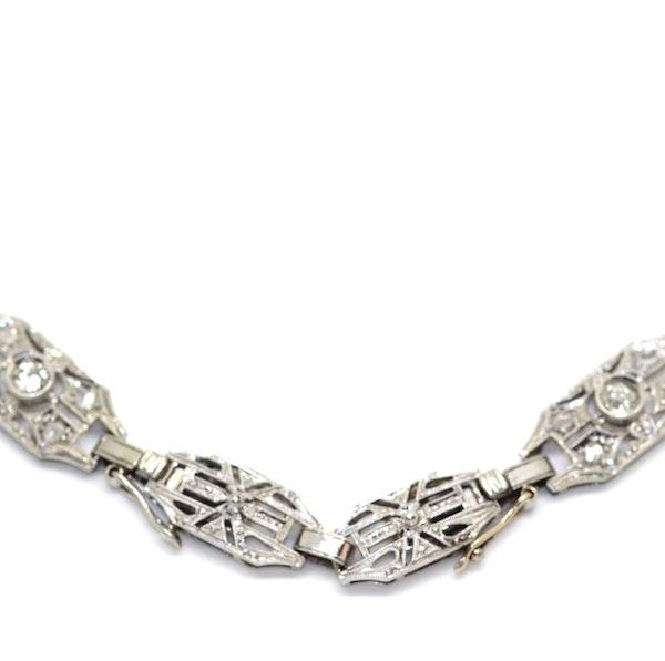 Art Deco Diamond Necklace. S.Greenstein - image 4