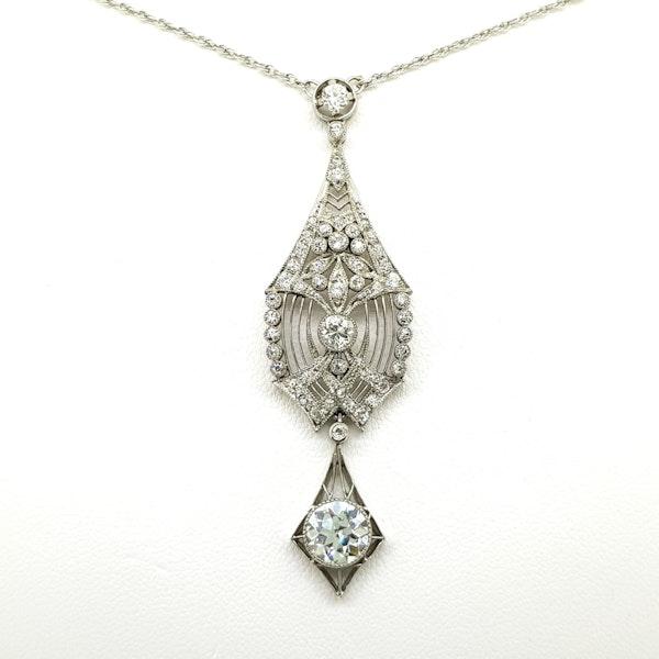 Belle Epoche Diamond Pendant - image 3