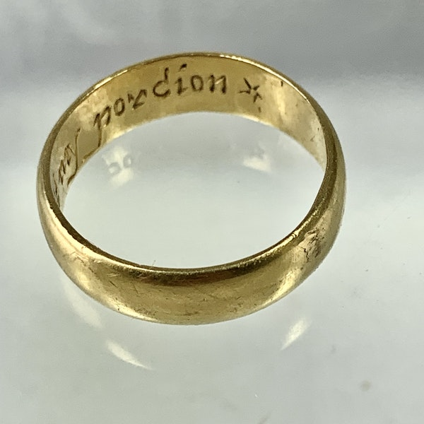 Seventeenth century POSY ring - image 3