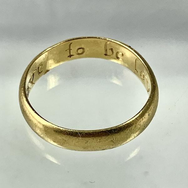 Seventeenth century POSY ring - image 2