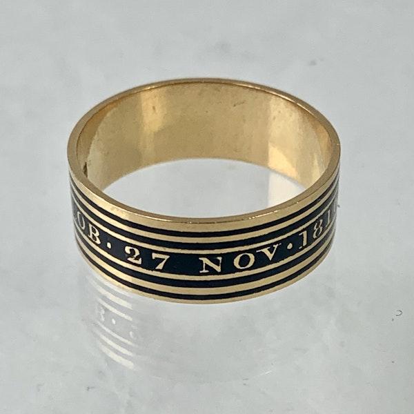 Memento Mori gold ring with black enamel - image 3