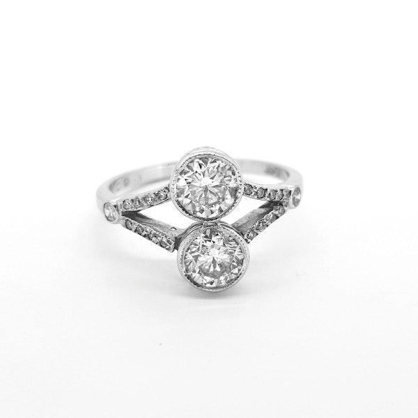 Toi et Moi Diamond Ring 1.60cts - image 3