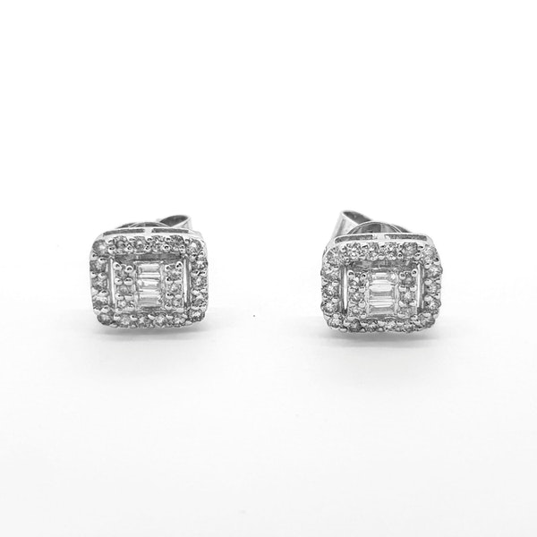 Multi diamond stud earrings 0.50ct - image 1