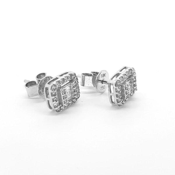 Multi diamond stud earrings 0.50ct - image 2