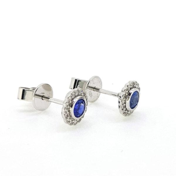Sapphire and Diamond stud Earrings - image 2
