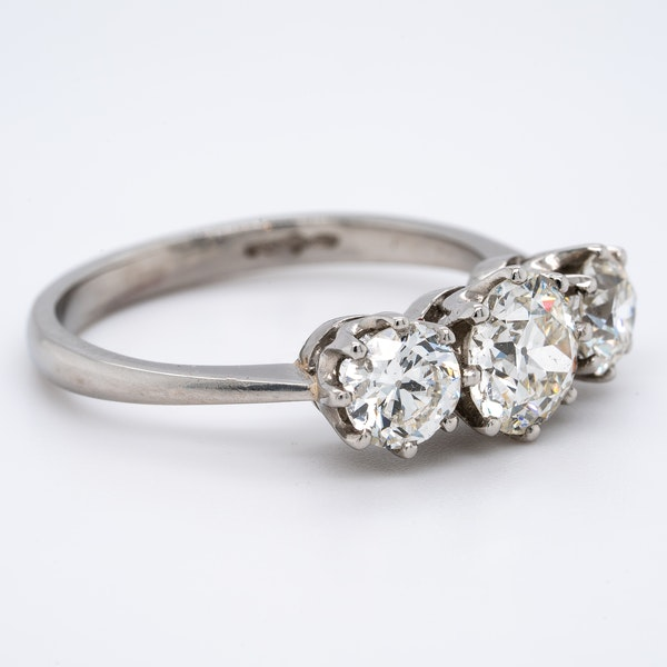 A Three Stone Diamond Ring Offered by The Gilded Lily - image 2