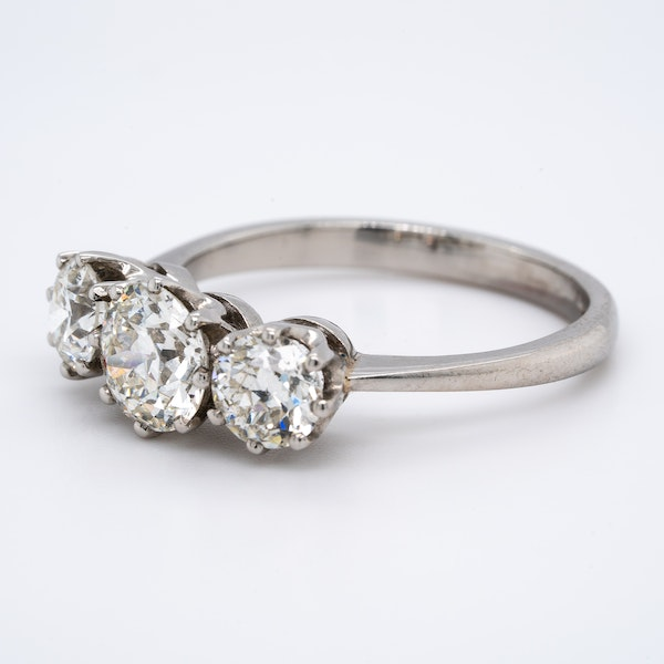 A Three Stone Diamond Ring Offered by The Gilded Lily - image 3