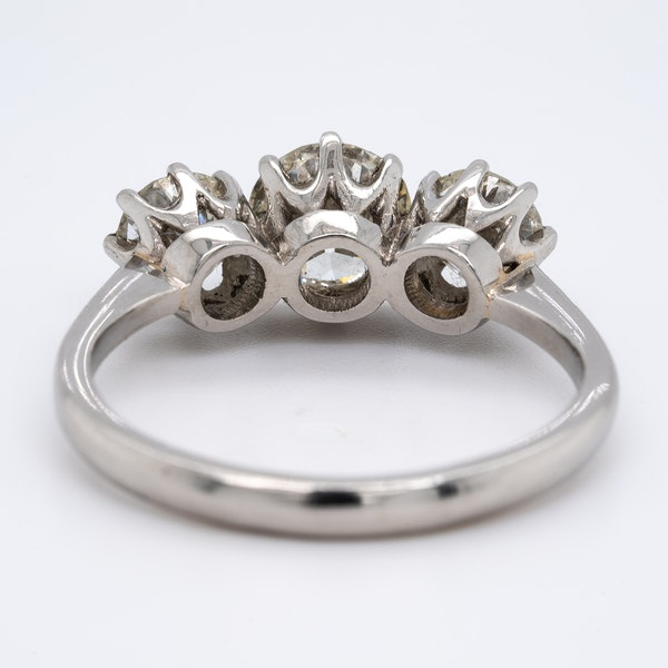 A Three Stone Diamond Ring Offered by The Gilded Lily - image 4