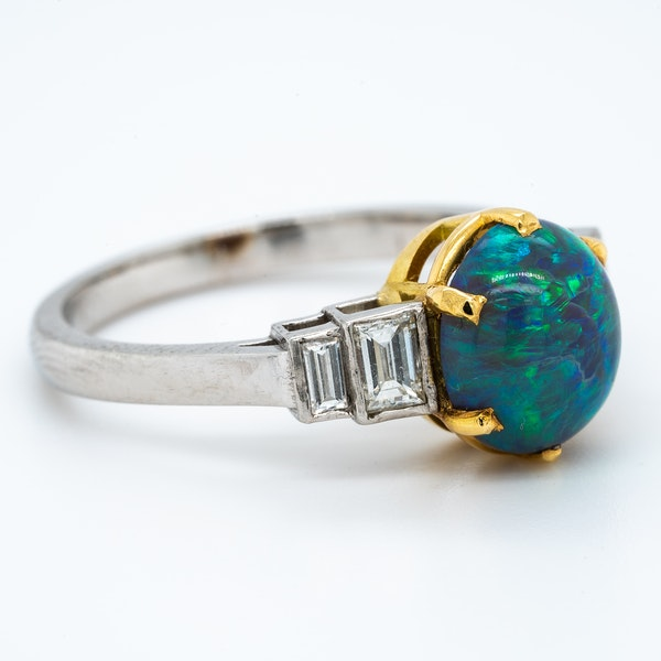 A Black Opal Ring Offered by The Gilded Lily - image 3