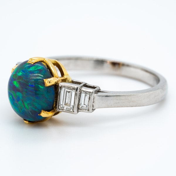 A Black Opal Ring Offered by The Gilded Lily - image 4