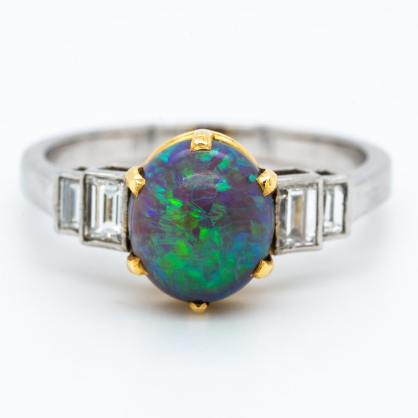 A Black Opal Ring Offered by The Gilded Lily - image 2