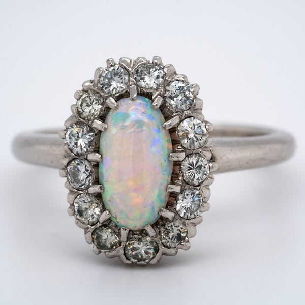 A White Opal Period Cluster Ring Offered by The Gilded Lily - image 1
