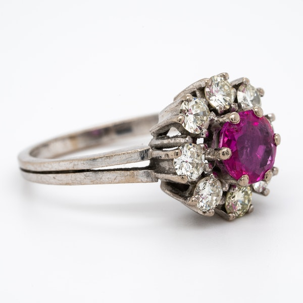 A Delicate Natural Ruby Cluster Ring Offered by The Gilded Lily - image 2