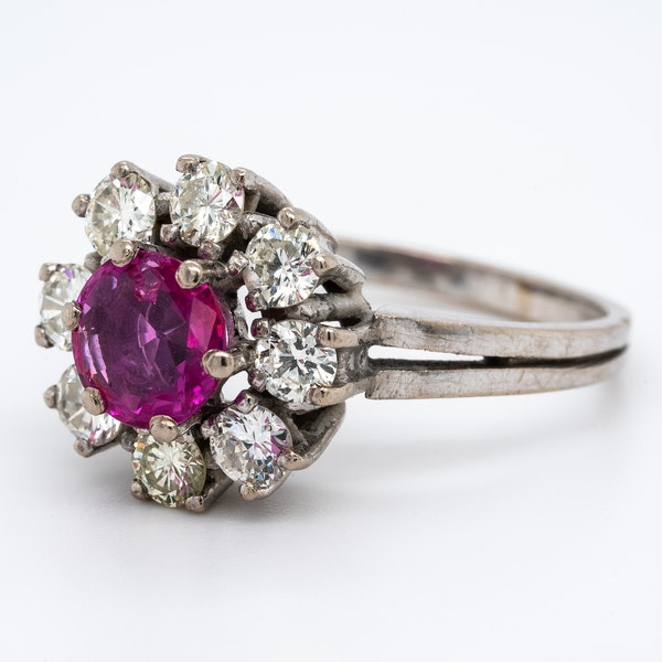 A Delicate Natural Ruby Cluster Ring Offered by The Gilded Lily - image 3