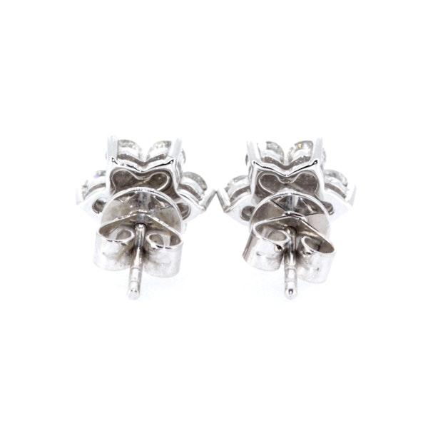 Flower Diamond Stud Earrings. S.Greenstein - image 3