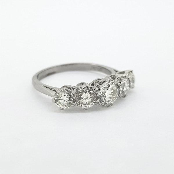 Diamond 5 stone ring, 2cts - image 4