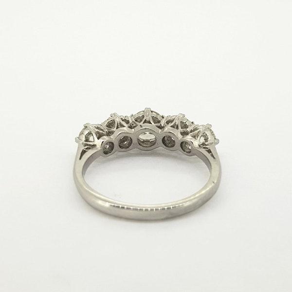 Diamond 5 stone ring, 2cts - image 2