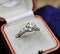 A very fine 1.60ct Old Cut Diamond & Platinum Solitaire Ring with French Cut Shoulders, English, Circa 1930 - image 2