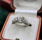 A very fine 1.60ct Old Cut Diamond & Platinum Solitaire Ring with French Cut Shoulders, English, Circa 1930 - image 3