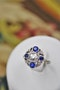 "A very fine ""Art Deco"" Platinum (tested) Sapphire & Diamond ""Quatrefoil"" Cluster Ring. Circa 1930 - image 1"