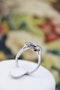 "A very fine ""Art Deco"" Platinum (tested) Sapphire & Diamond ""Quatrefoil"" Cluster Ring. Circa 1930 - image 3"